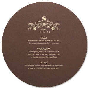 Rose Laurel Menu