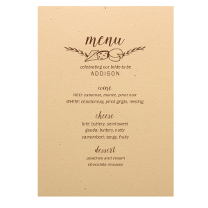 Cheese Flourish Menu
