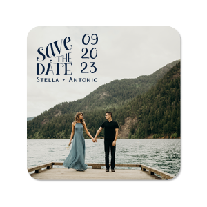 Save The Date Photo/Full Color Coaster