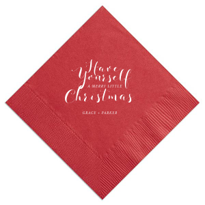 Have Yourself A Merry Little Christmas Napkin