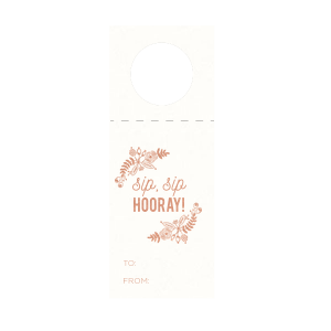 Rustic Floral Frame Wine Tag