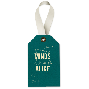 Great Minds Wine Tag