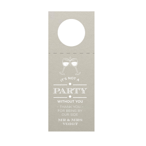 It's Not a Party Without You Wine Tag