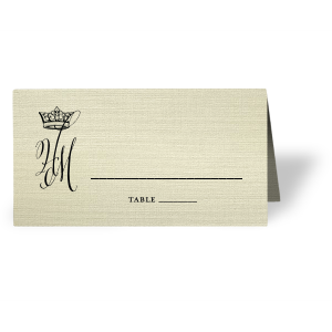 Royal Couple Place Card