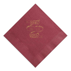 Together Forever Ribbon Frame Napkin