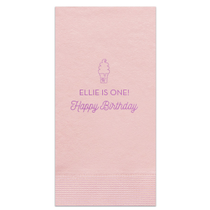 Happy birthday With Ice-cream Napkin