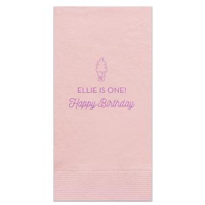 Happy birthday With Ice-cream Napkin