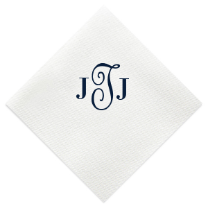 Calligraphy Monogram Napkin