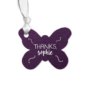 Swirl Butterfly Tag
