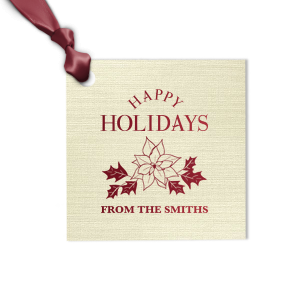 Poinsettia Gift Tag