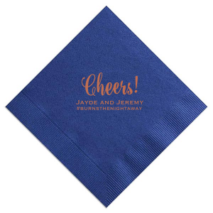 Cheers Wedding Hashtag Napkin