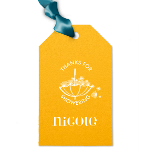 Umbrella Shower Gift Tag