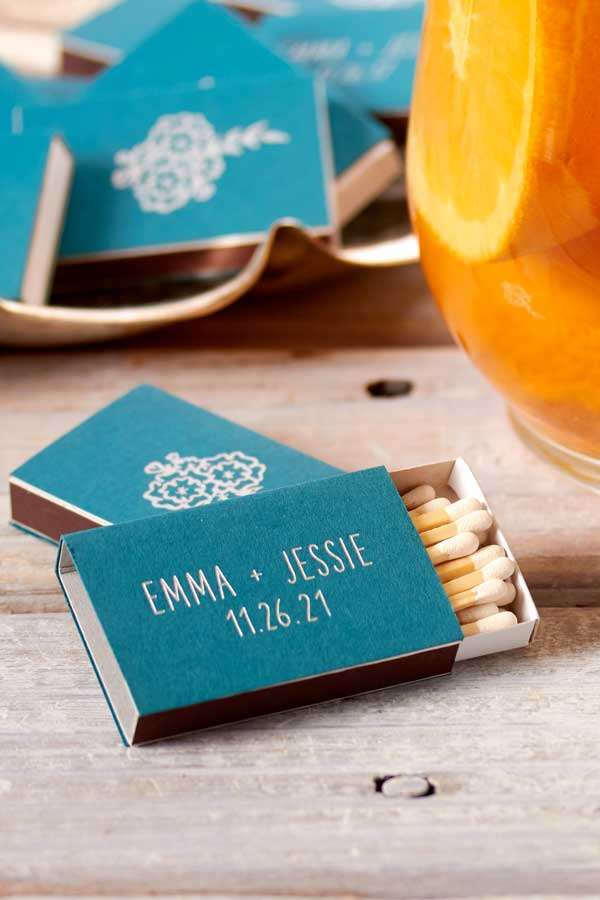 classic wedding match box