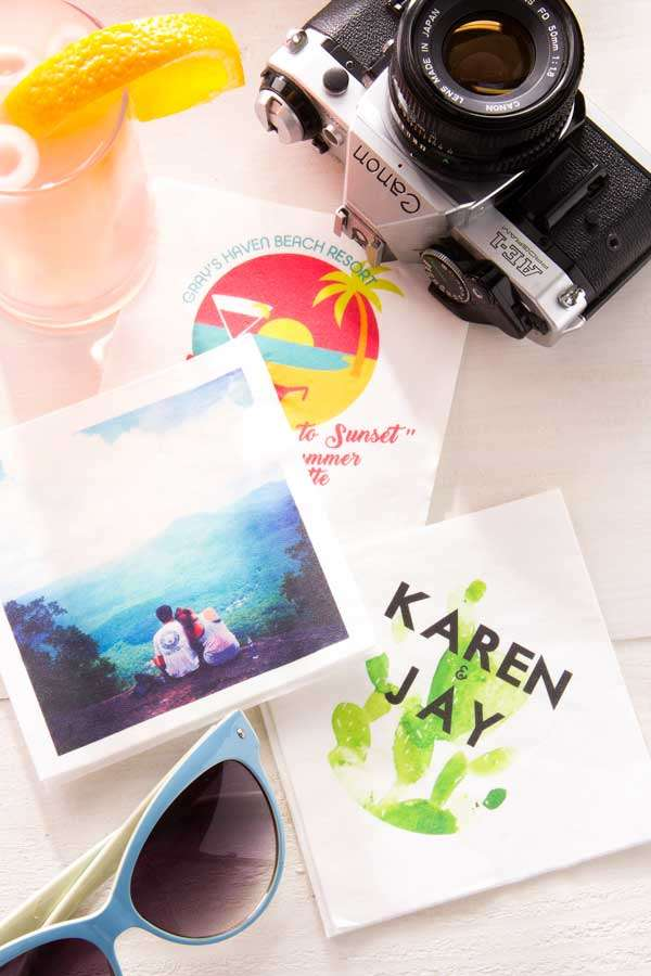 Custom Photo Napkins