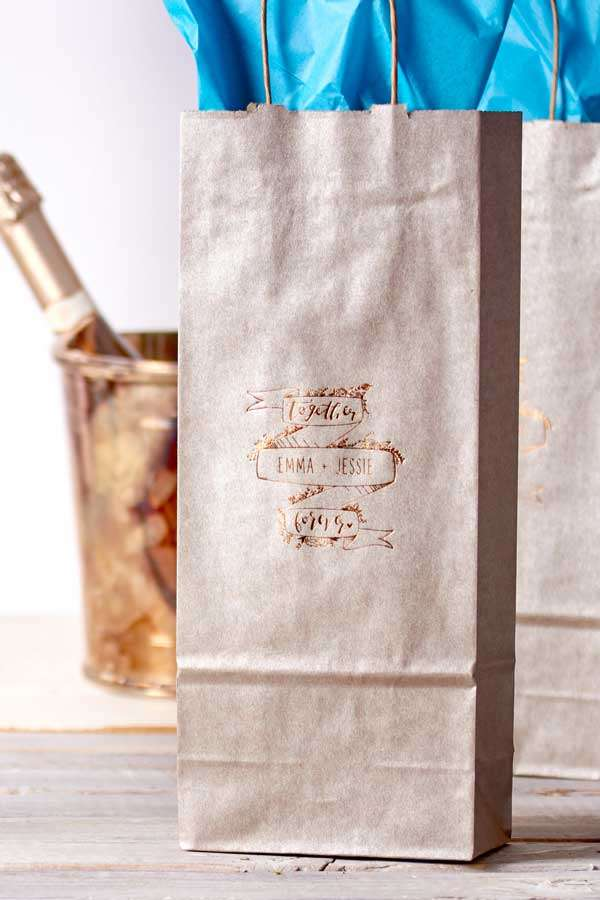 custom wine bag