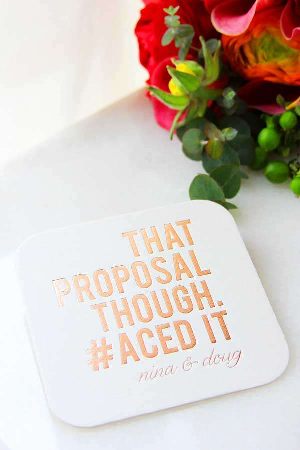 square wedding coaster