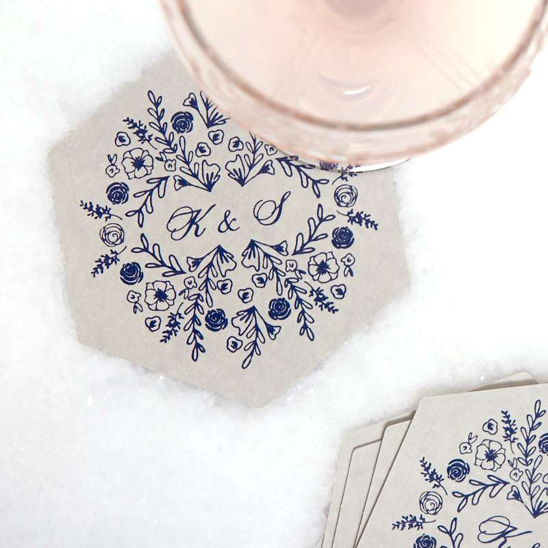 floral coaster for customer wedding coaster