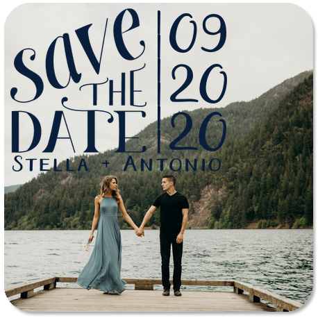 save the date wedding coasters with engagement images
