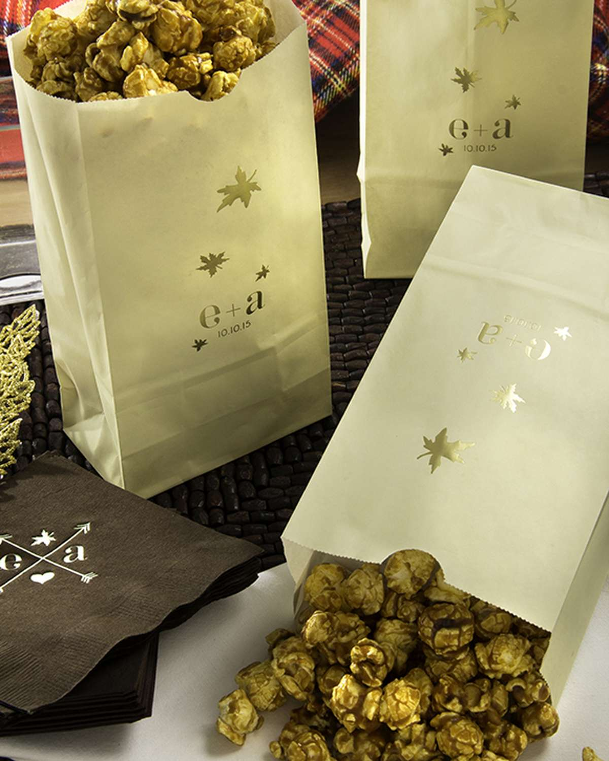 Personalized Wedding Favors Popcorn Bags