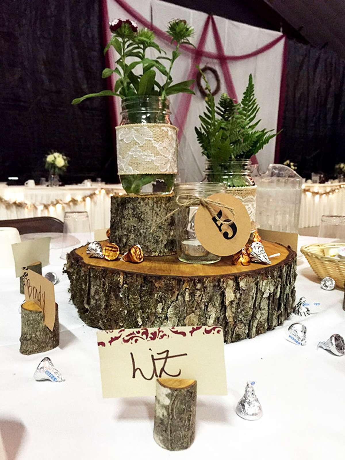 DIY Wood Wedding Centerpieces