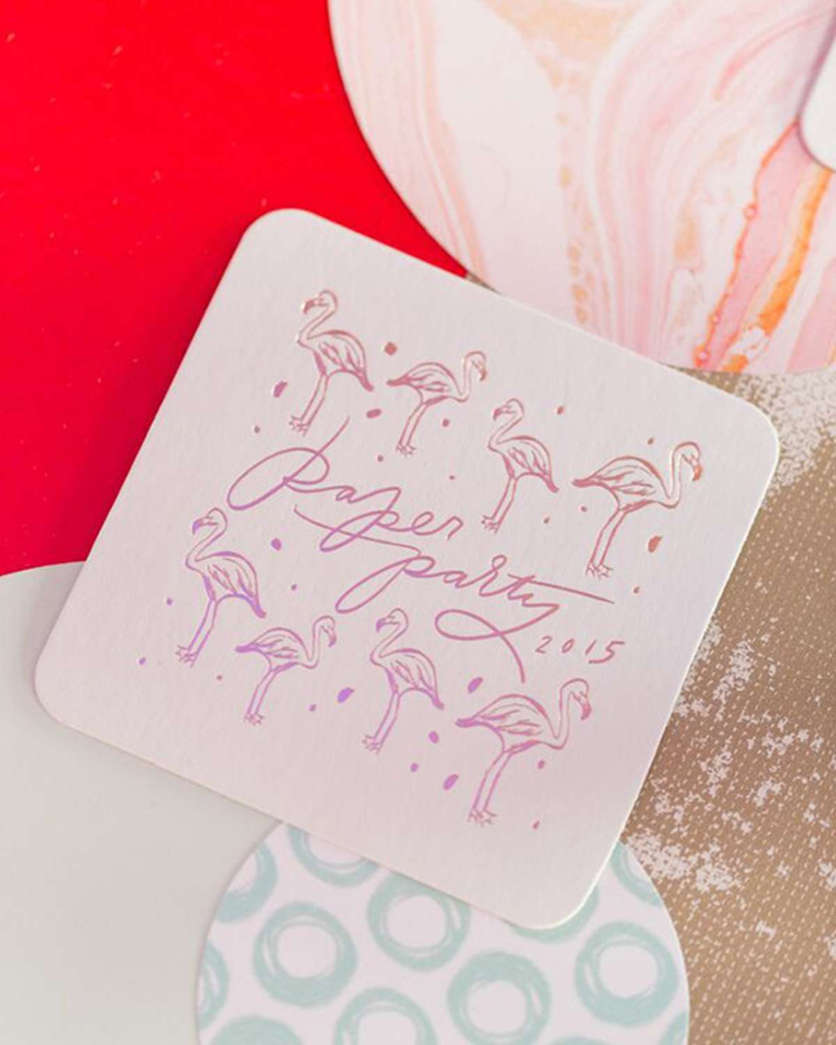 Oh So Beautiful Paper Personalized Coasters