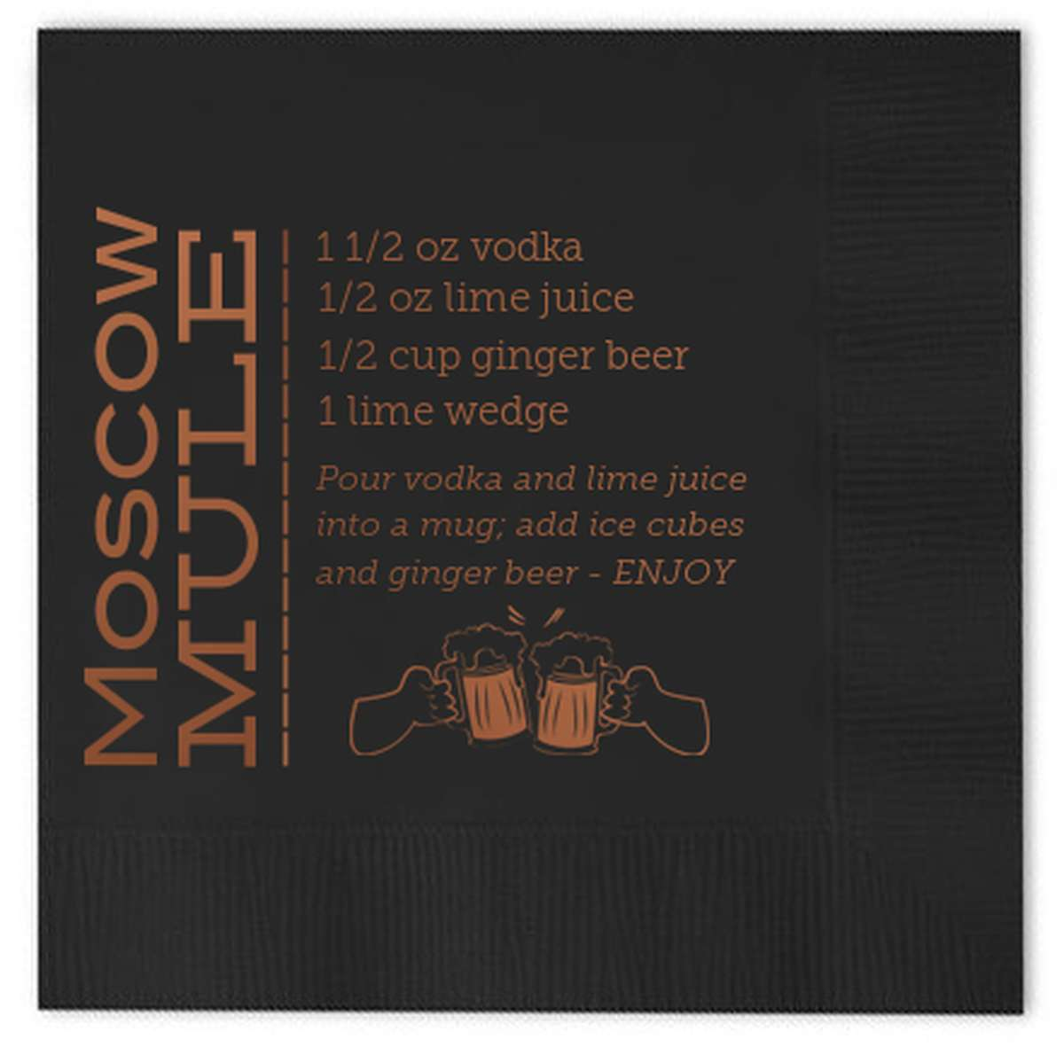 Personalized Cocktail Napkin Moscow Mule