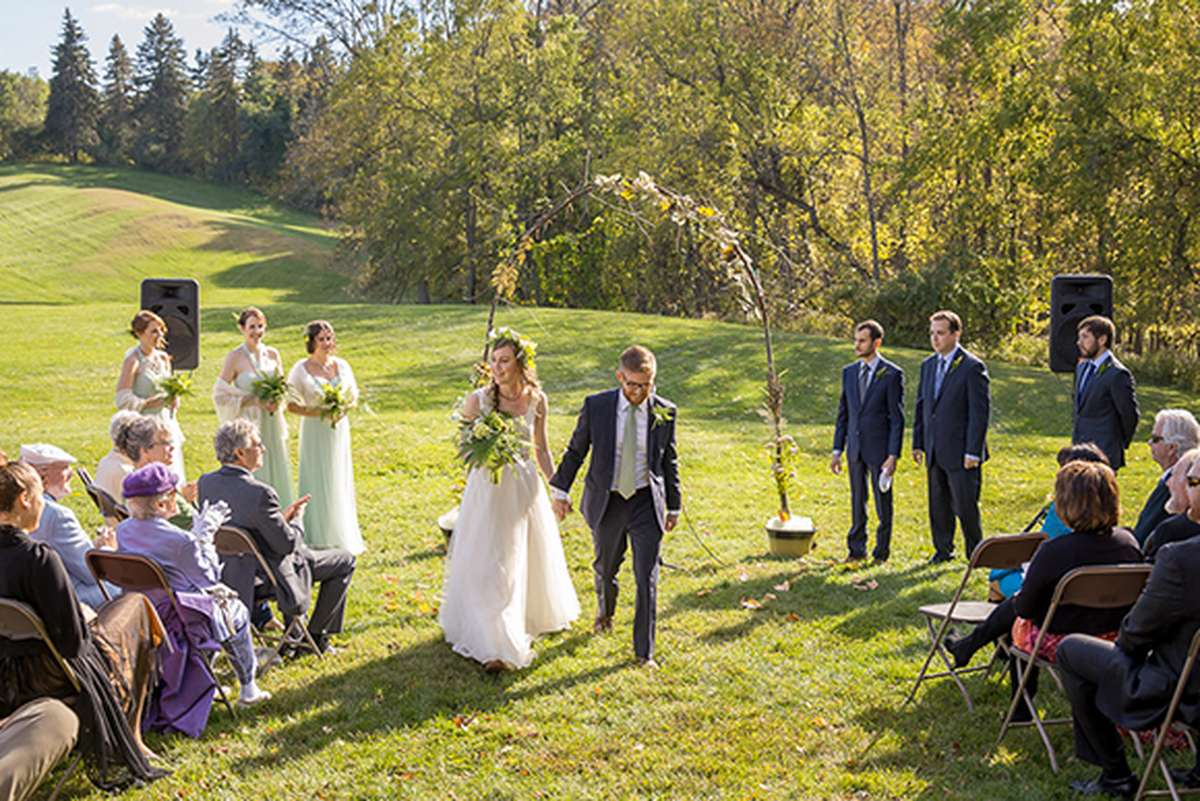 Outdoor Rustic Fall Wedding Archway