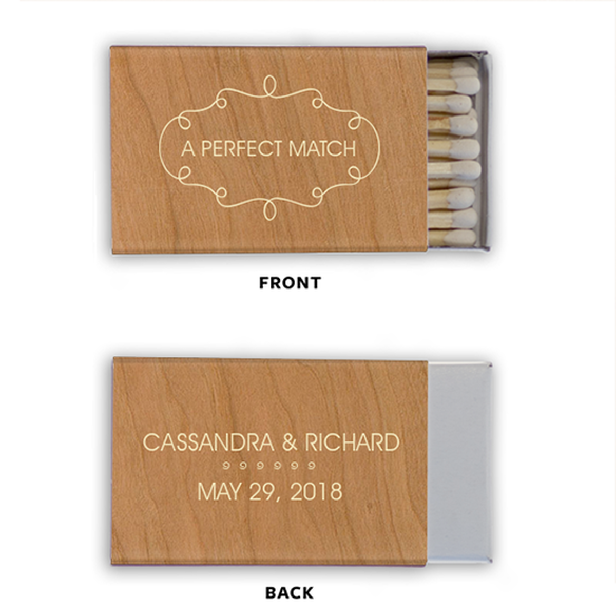 Custom Matches Wooden