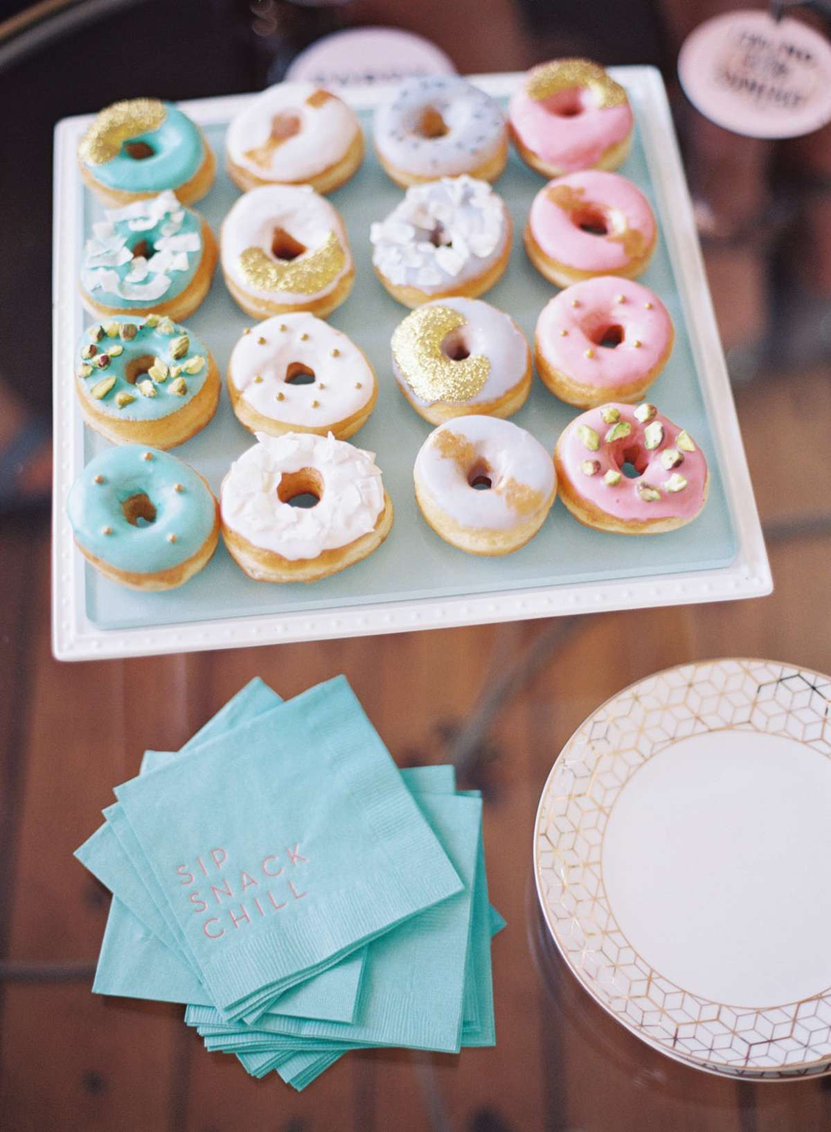 personalized cocktail napkins with donuts