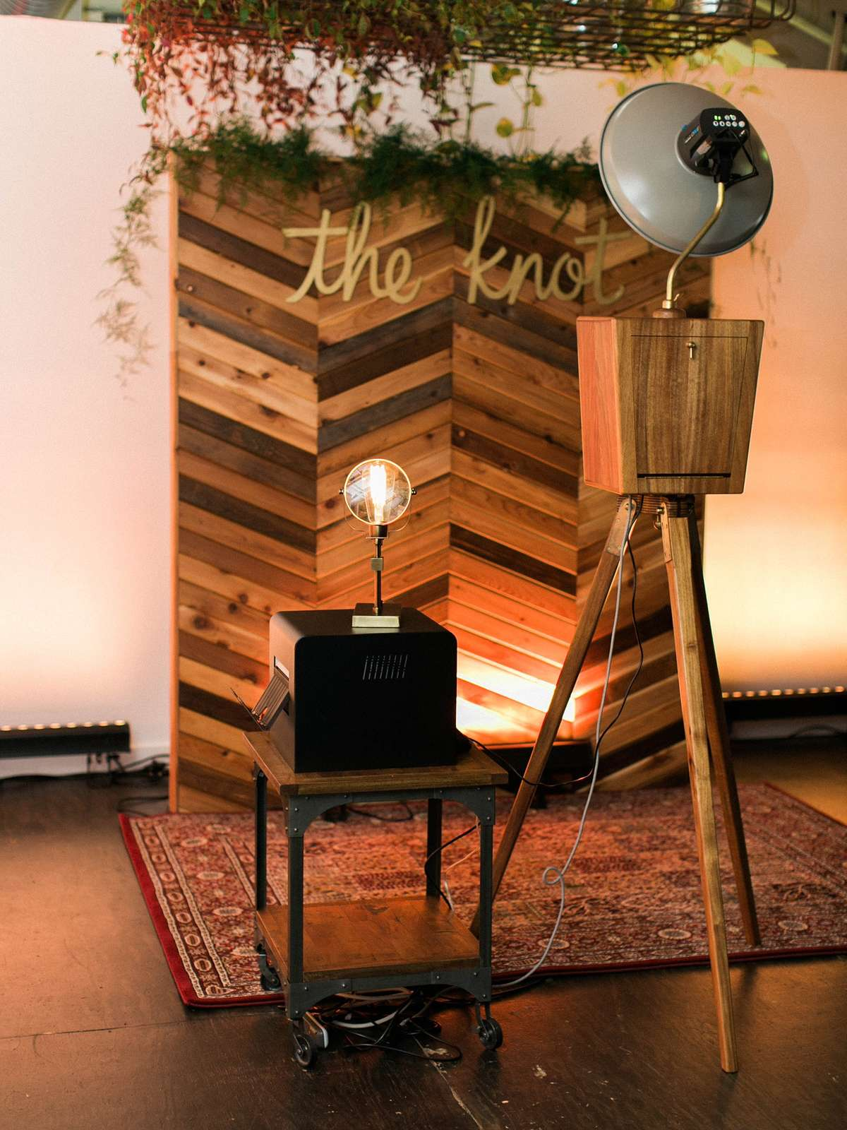 industrial wooden photo booth