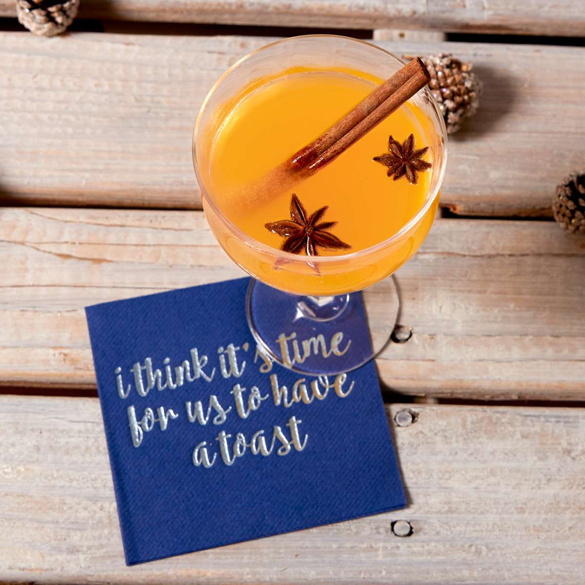 old fashioned recipe with personalized cocktail napkin