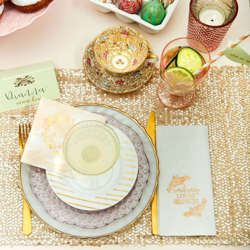 fancy easter table setting