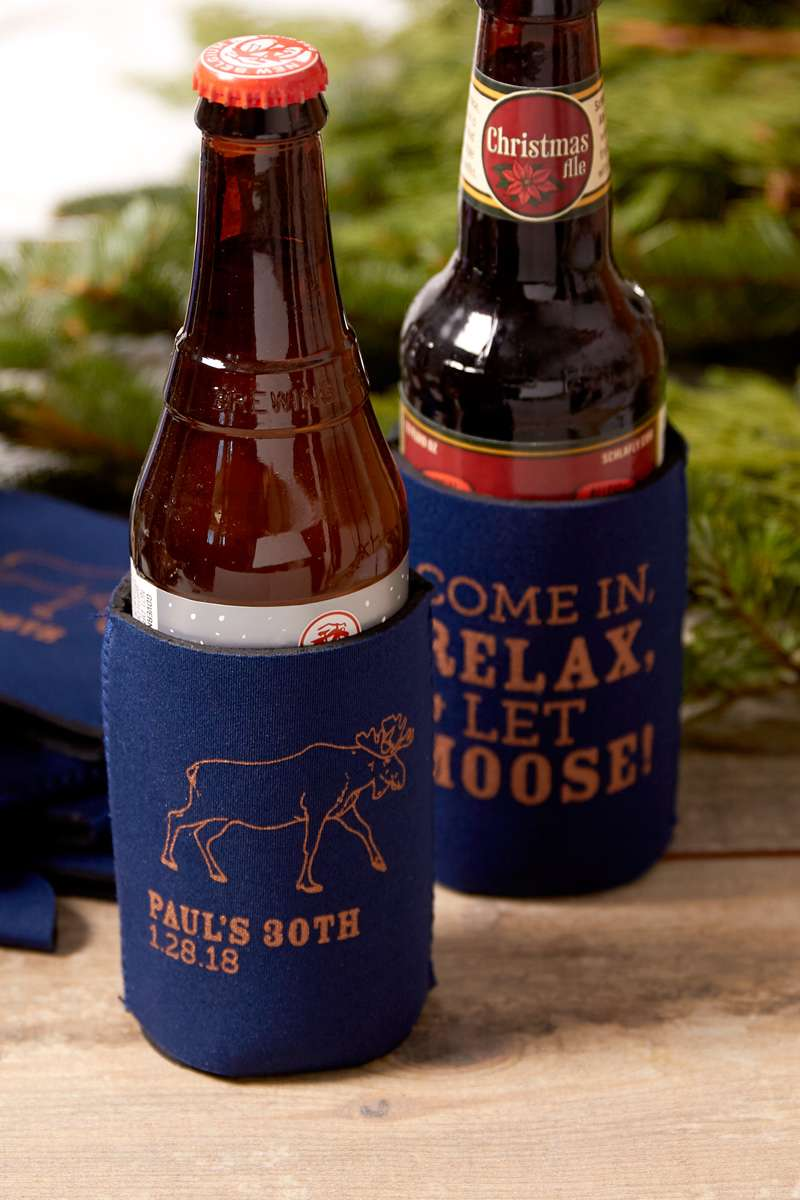 personalized party koozies