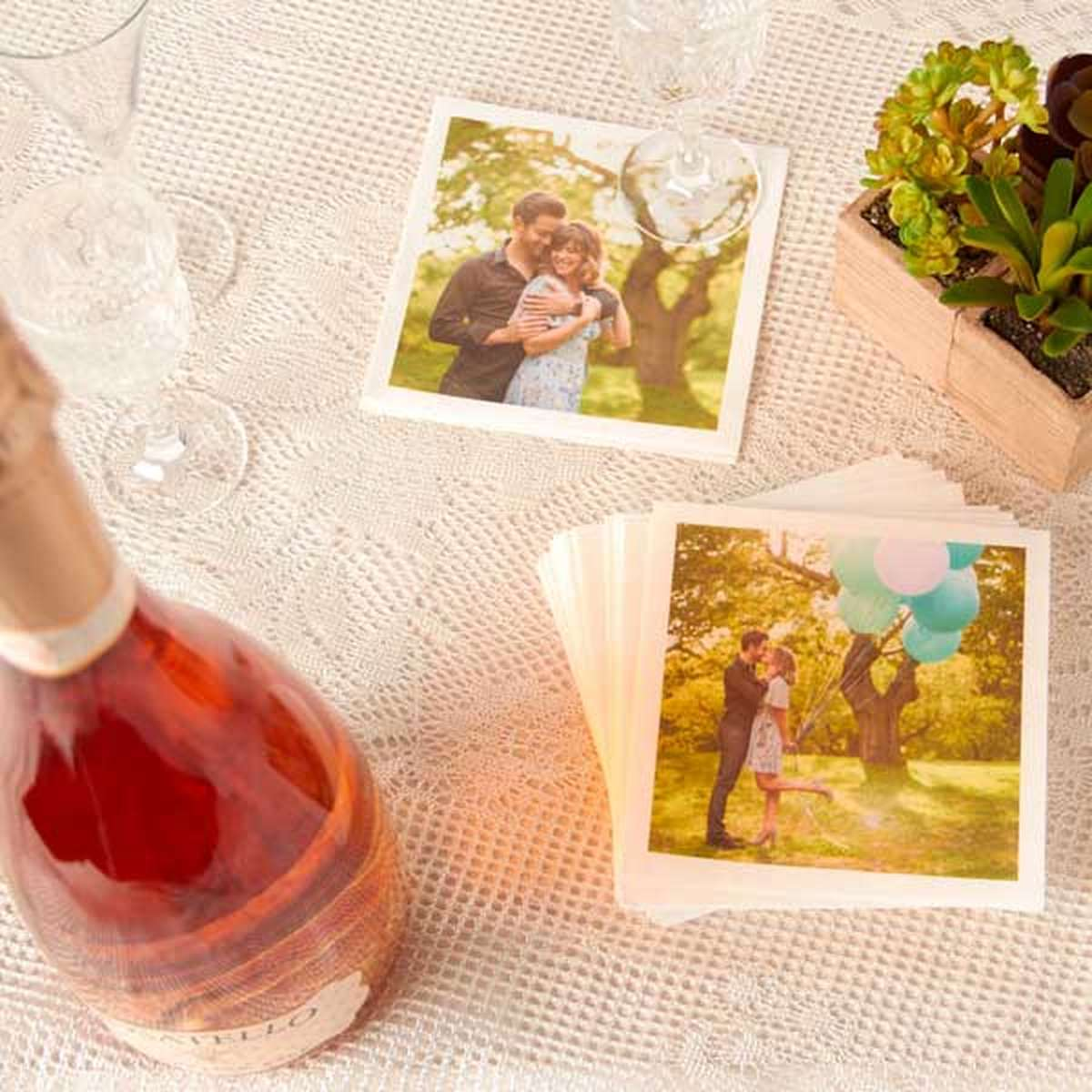 wedding photo napkins