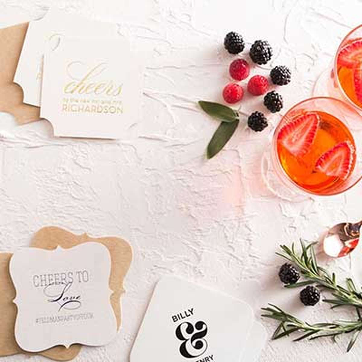 Custom Coasters | Save the Date & Wedding Coaster Favors | For Your ...
