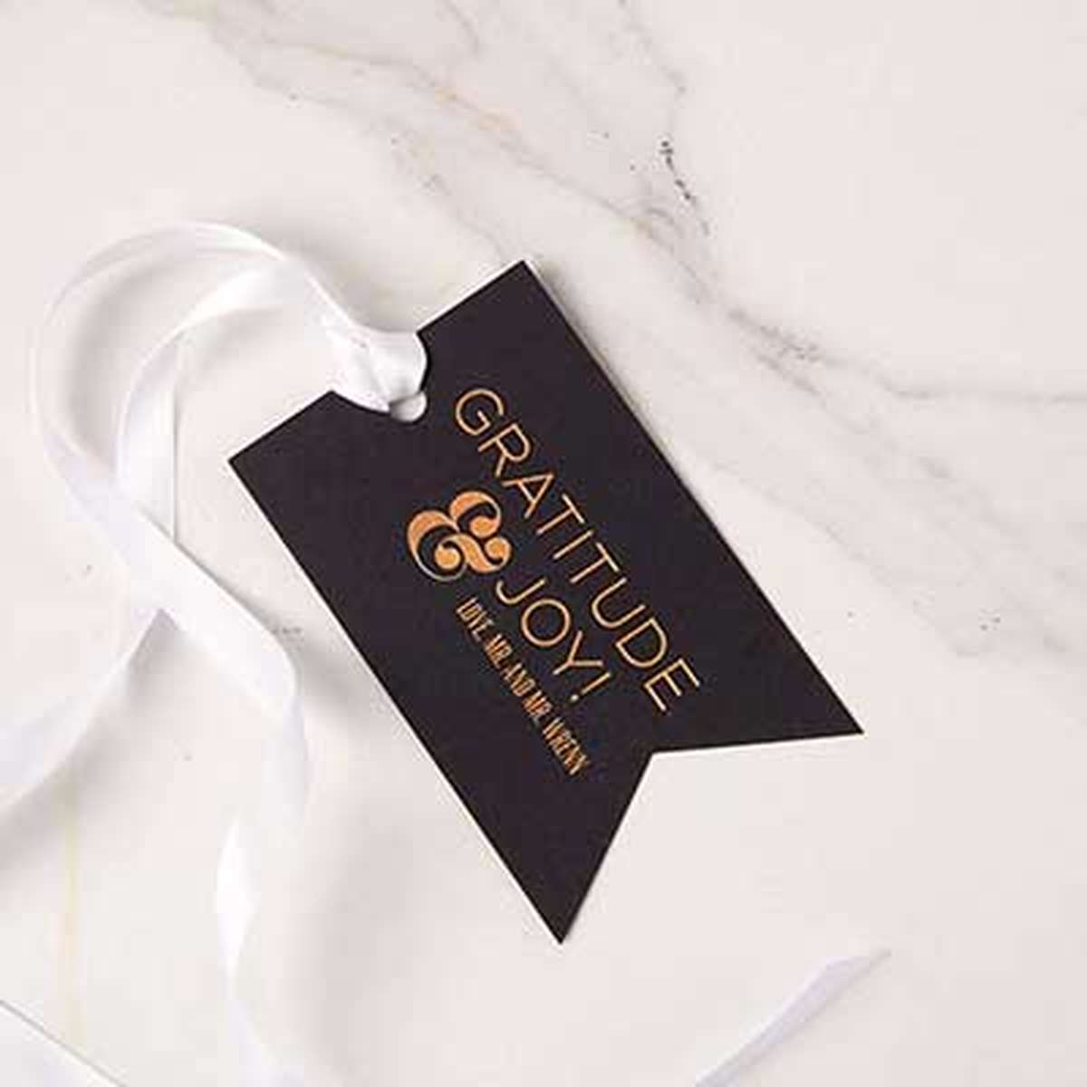 custom double point gift tag