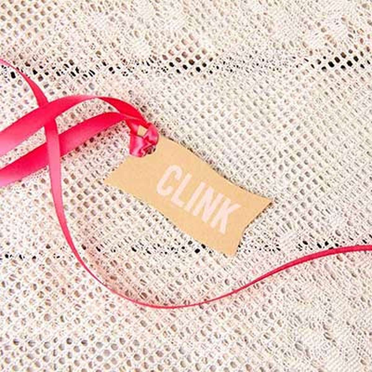 custom wave gift tag