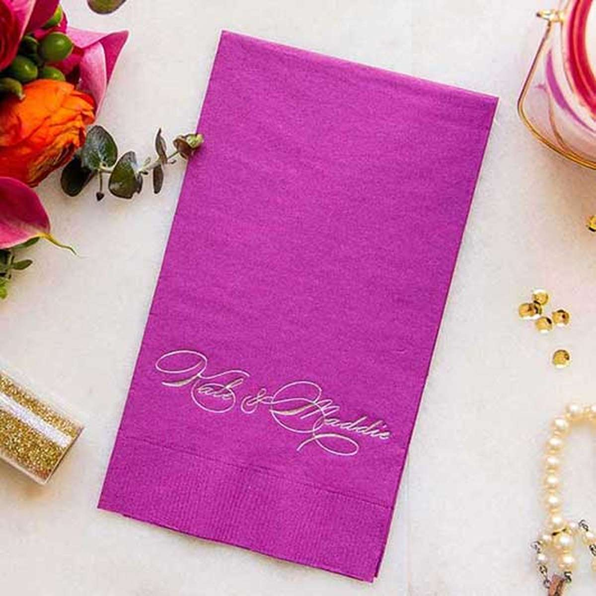 personalized guest towel napkin