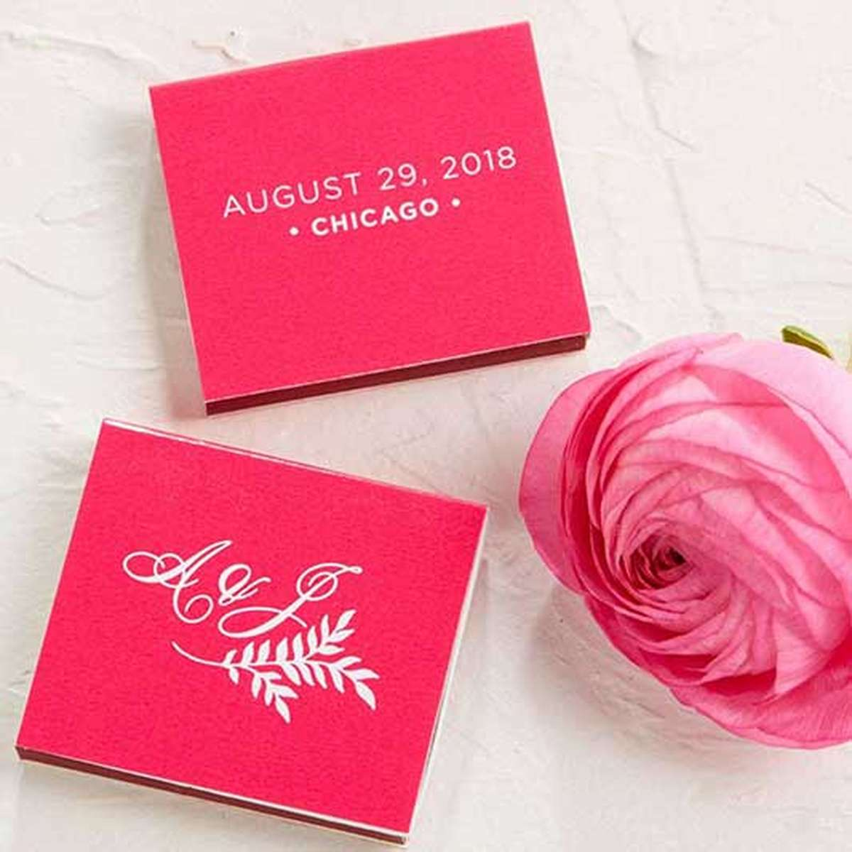 personalized party favor wedding matches