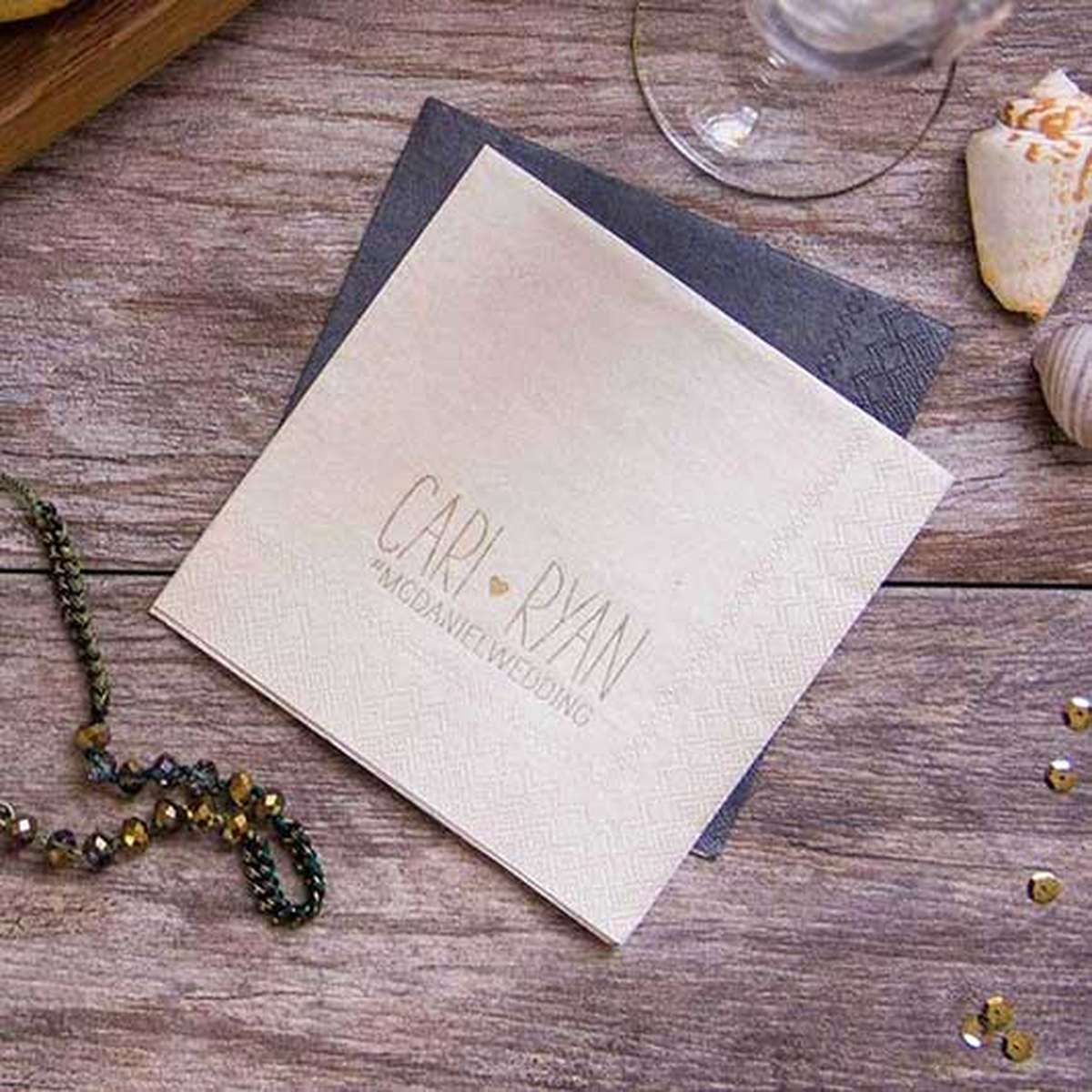 shimmer cocktail napkin