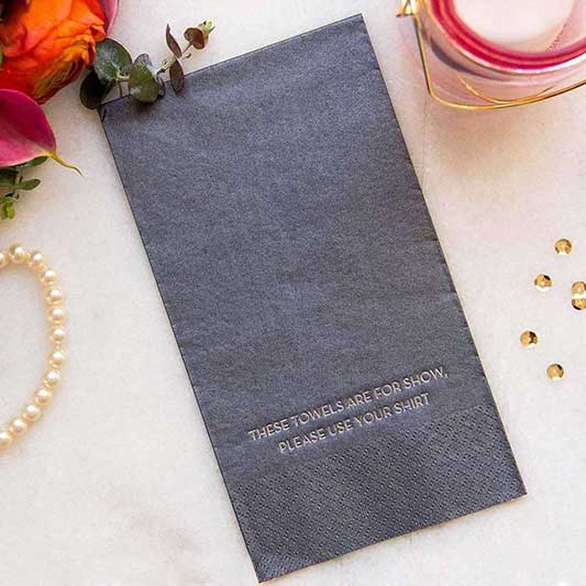 shimmer guest towel wedding napkin