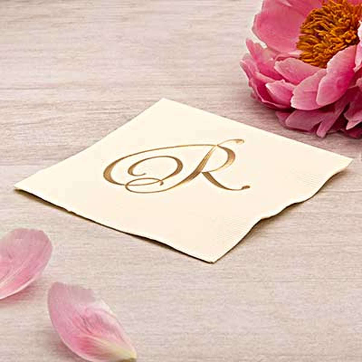 foil embossed wedding napkin