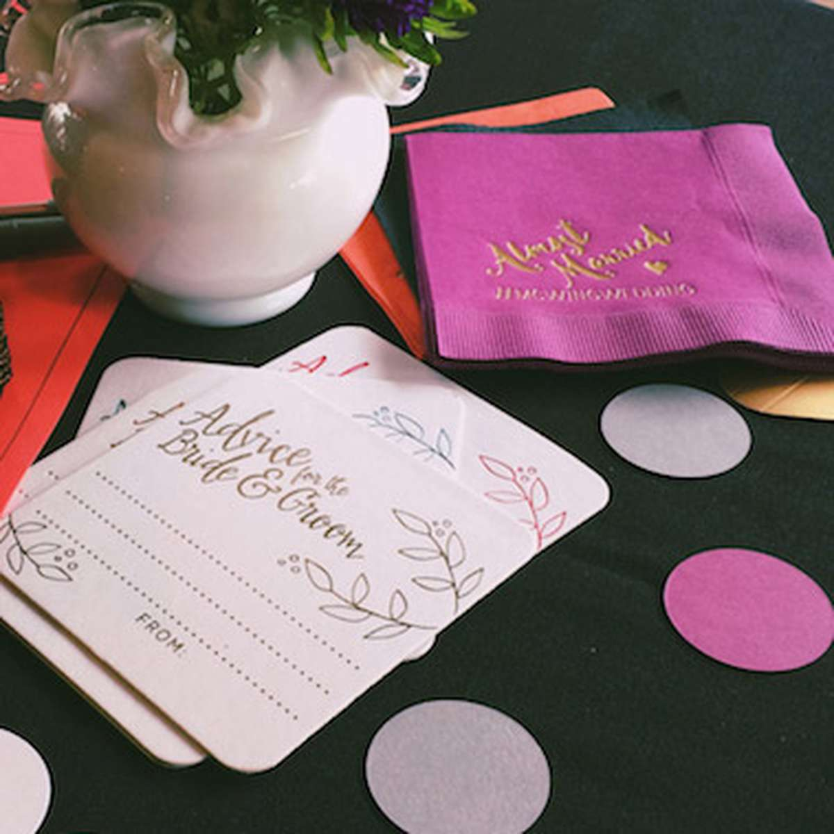 Custom Coasters and Personalized Wedding Napkins