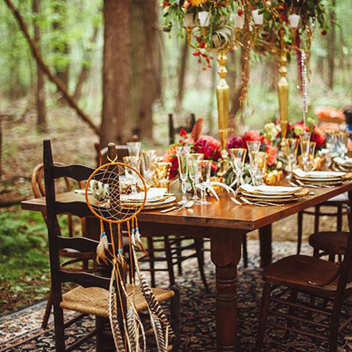 Woodland Wedding Tablescape