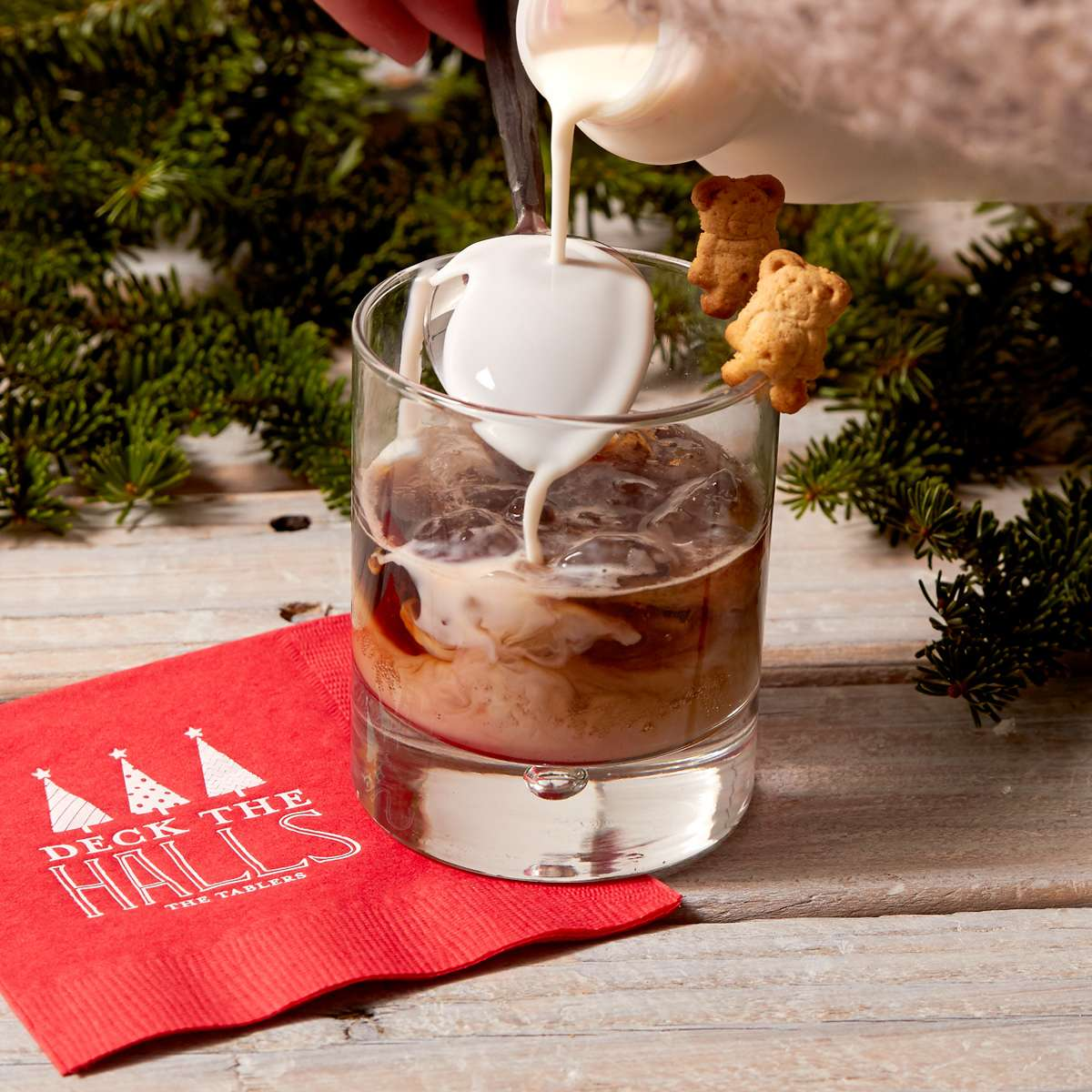 christmas holiday cocktail gingerbread white russian
