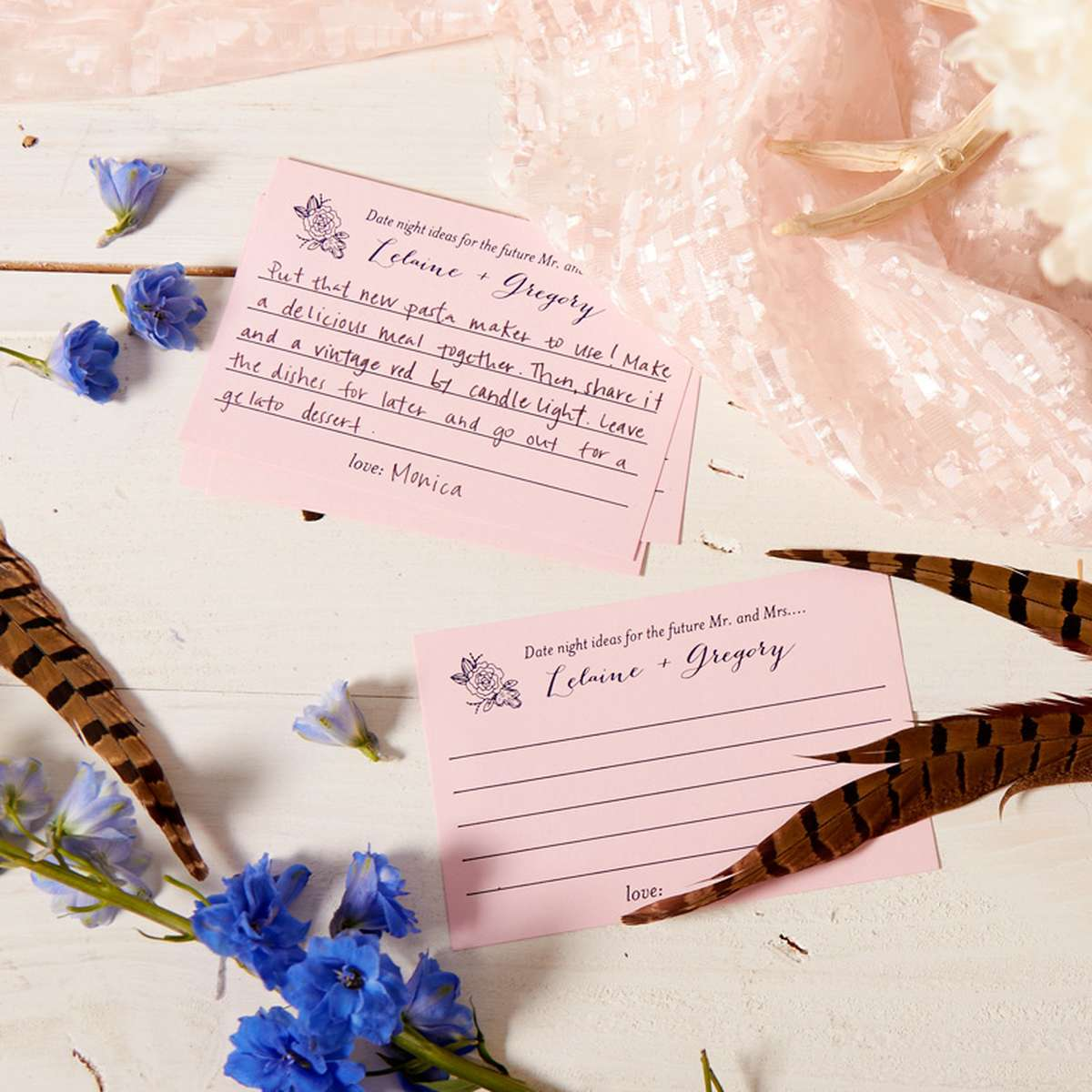 custom recipe cards for bridal shower activities
