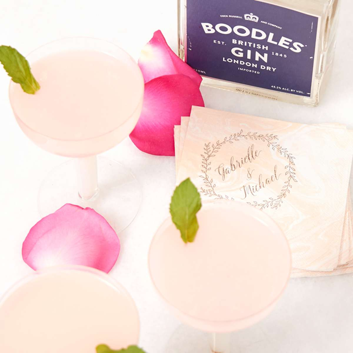 gin and rose cocktail