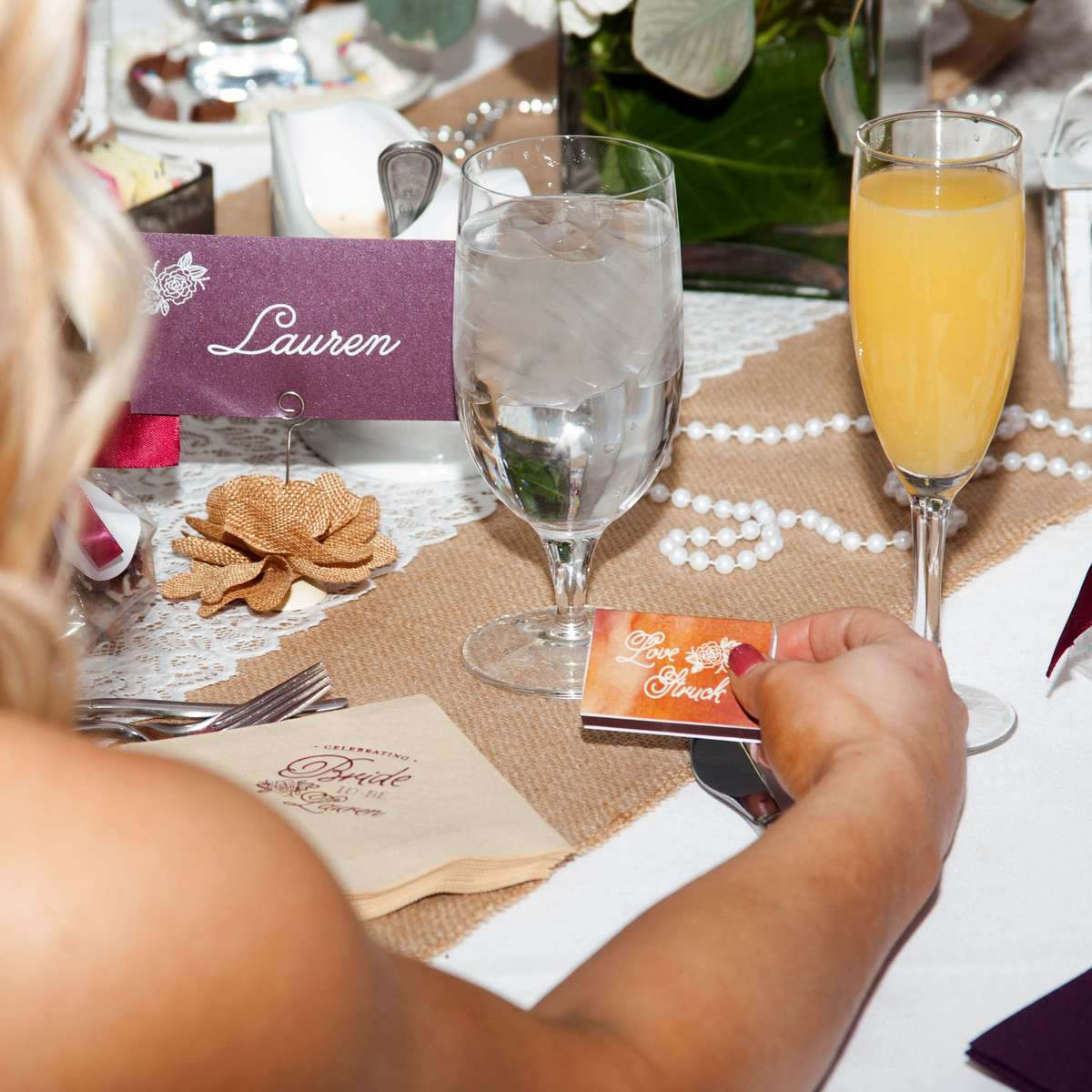 personalized matches for bridal shower party favors