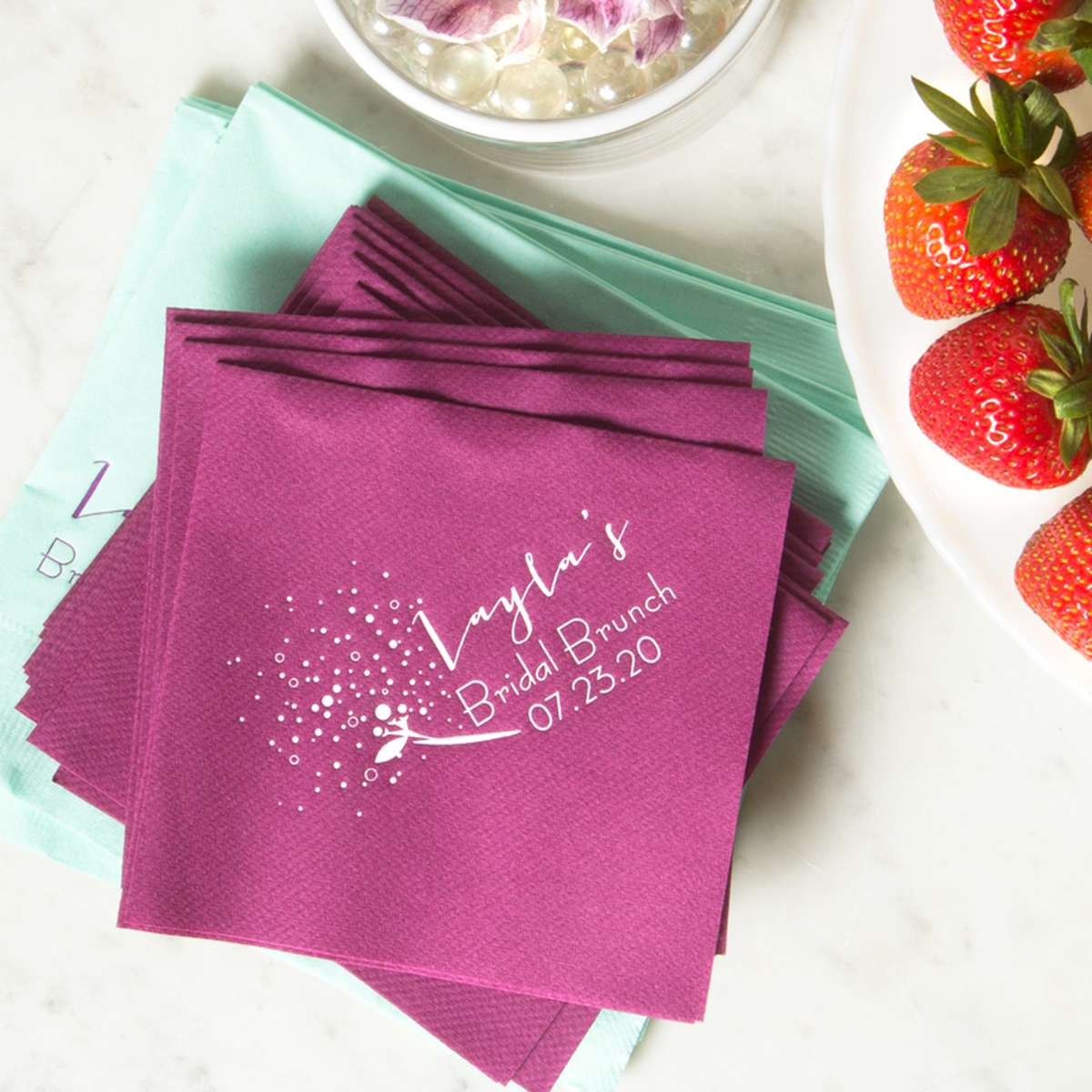 bridal shower personalized tea party favors